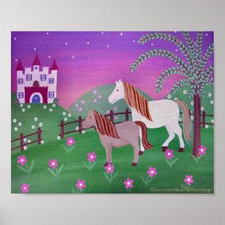 Pâturages royaux - les filles de chevaux du posters