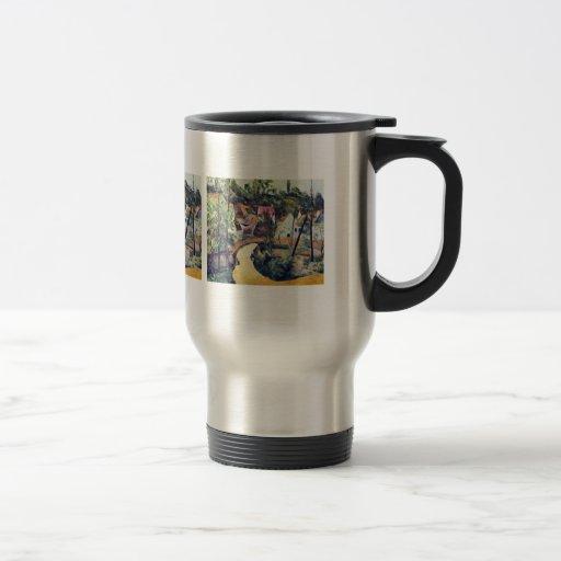 Paul Cezanne - courbure de route Tasses À Café