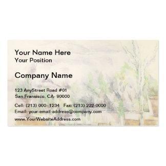 Paul Cezanne- la terrasse de jardin chez Les Lauve Carte De Visite