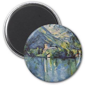 Paul Cézanne - lac annecy Magnet Rond 8 Cm