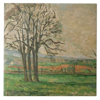 Paul Cezanne - les arbres nus chez Jas de Bouffan Grand Carreau Carré