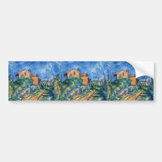 Paul Cezanne- Maison Maria avec une vue de château Adhésif Pour Voiture