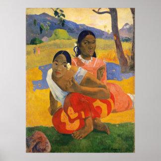 PAUL GAUGUIN - ipoipo 1892 de faa de Nafea Poster