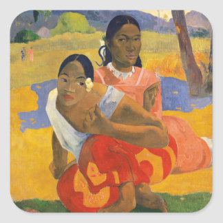 PAUL GAUGUIN - ipoipo 1892 de faa de Nafea Sticker Carré