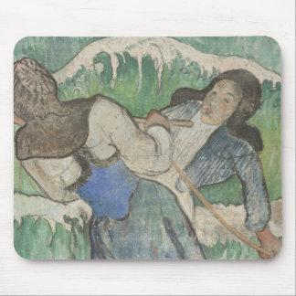Paul Gauguin - les ramasseurs d'algue Tapis De Souris
