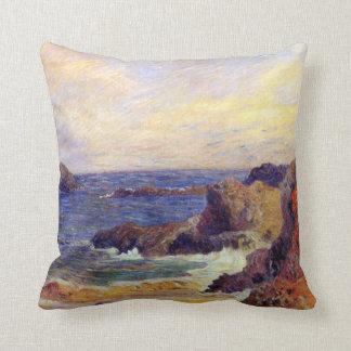 Paul Gauguin - peinture rocheuse de beaux-arts de Oreiller