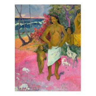 Paul Gauguin | une promenade par la mer, 1902 Cartes Postales
