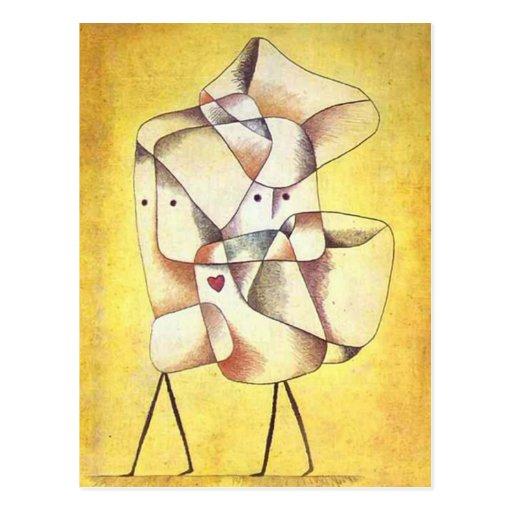 Paul Klee - enfants de mêmes parents Cartes Postales