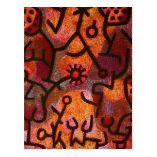 Paul Klee Flora di Roccia Postcard Carte Postale