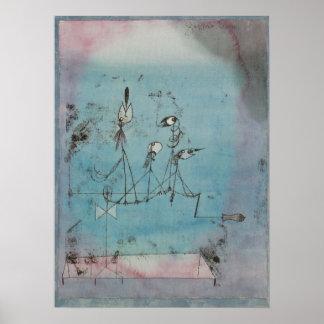 Paul Klee gazouillant l'affiche de machine