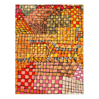 Paul Klee - Kr de château de ville Cartes Postales