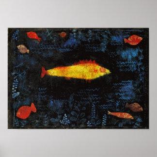 Paul Klee l'art lunatique de crèche de poisson rou Posters