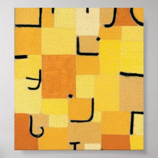 Paul Klee - signe dedans le jaune Affiches