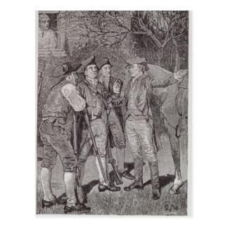 Paul Revere à Lexington Carte Postale
