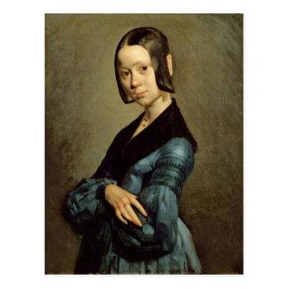 Pauline Ono dans le bleu, 1841-42 Carte Postale