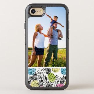 Paumes de grunge d'ananas de photo coque OtterBox symmetry iPhone 8/7