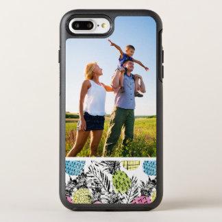 Paumes de grunge d'ananas de photo coque OtterBox symmetry iPhone 8 plus/7 plus