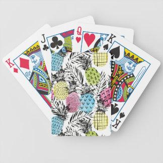 Paumes de grunge d'ananas jeu de cartes
