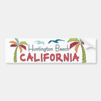 Paumes de Huntington Beach la Californie Autocollant Pour Voiture