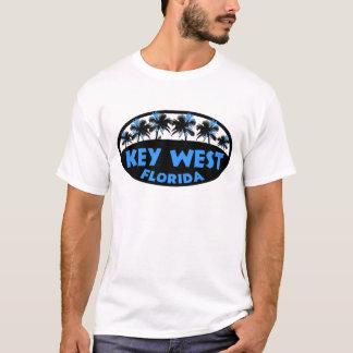 Paumes de noir bleu de Key West la Floride T-shirt