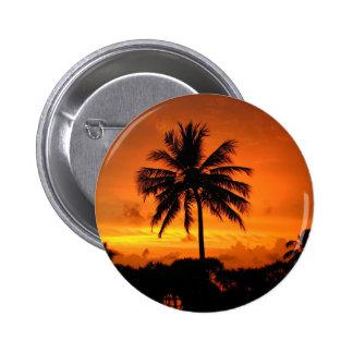 Paumes et coucher du soleil badges