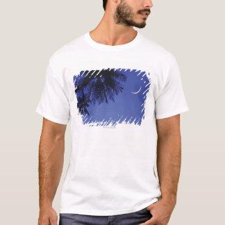 Paumes et croissant de lune t-shirt