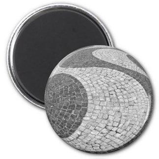 Pavé de Lisbonne Magnet Rond 8 Cm