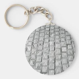 Pave le porte - clé en cailloutis porte-clé rond