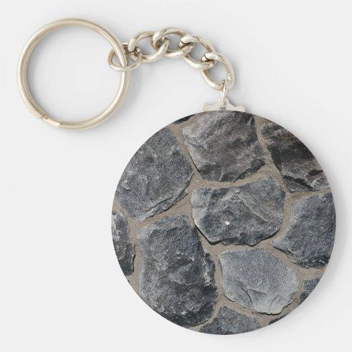 Pavés gris-foncé porte-clefs
