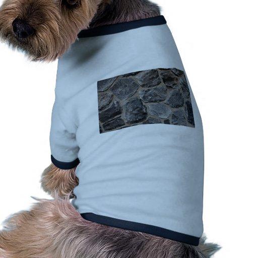 Pavés gris-foncé tee-shirts pour toutous