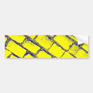 Pavés jaunes bleus autocollant pour voiture