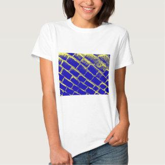 Pavés jaunes bleus renversés t-shirt