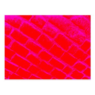 Pavés rouge-rose renversés carte postale