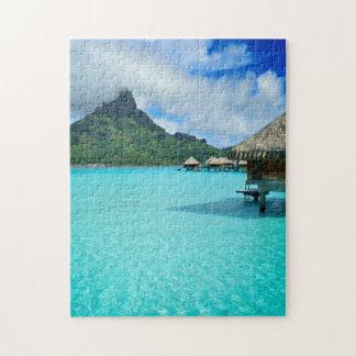 Pavillons d'Overwater dans le puzzle de verticale