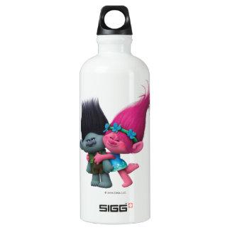 Pavot des trolls | et branche - aucun mauvais bouteille d'eau en aluminium