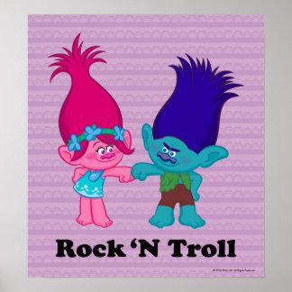 Pavot des trolls | et branche - roche 'N Troll Posters