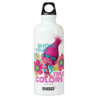 Pavot des trolls | - montrez vos couleurs vraies bouteille d'eau en aluminium