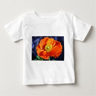 Pavot islandais orange t-shirt pour bébé