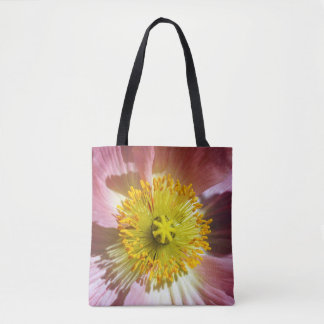 Pavot islandais rose tote bag