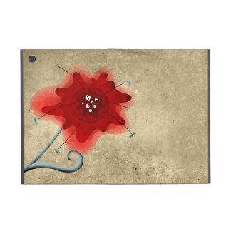 Pavot rouge tourbillonnant de feuille élégante