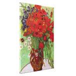 Pavots de Van Gogh et marguerites rouges, fleurs Impressions Sur Toile