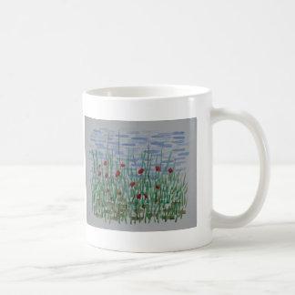 Pavots et roseaux mug