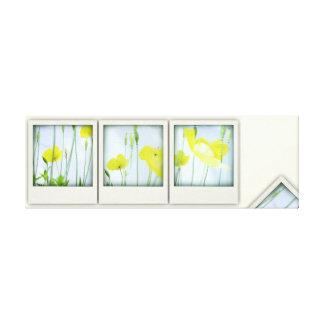 Pavots jaunes de Faux-Polaroïd - copie de toile Impressions Sur Toile