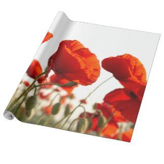Pavots orientaux - papier d'emballage papier cadeau