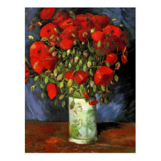 Pavots rouges de Van Gogh, économies de cru la Carte Postale