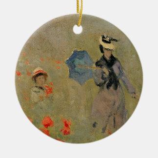 Pavots sauvages de Claude Monet |, près Ornement Rond En Céramique