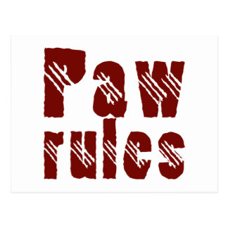 Paw rules cartes postales