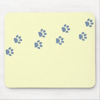 pawprints de chat de chien d'animaux familiers tapis de souris