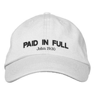 Payé entièrement casquette brodée
