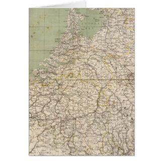 Pays-Bas et carte d'atlas de la Belgique